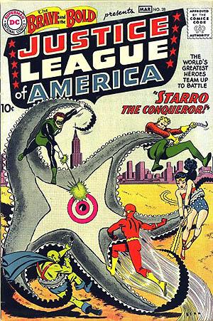primeira aparição da Liga da Justiça